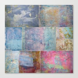 Collage monoprints Canvas Print