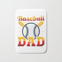 Baseball Dad Awesome Coach & Parent Bath Mat