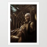 thranduil Art Prints featuring Thranduil by SUIamena