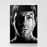 spock Stationery Cards featuring Spock by Sarah Riebe