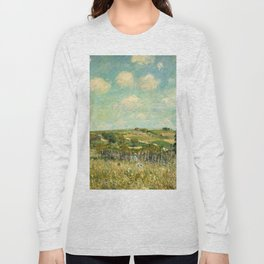 Alfred Sisley - Meadow, 1875 Long Sleeve T-shirt