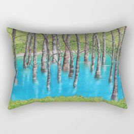 Reflection of Trees Rectangular Pillow