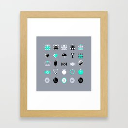 8-Bit Bling Framed Art Print