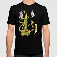 The Great Doodle Warriors MEDIUM Black Mens Fitted Tee
