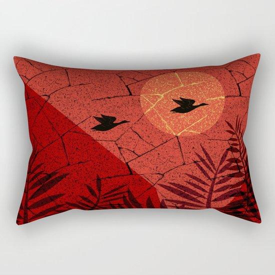 beautiful sunset. Rectangular Pillow