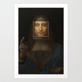 Salvator Mundi _tag Art Print