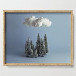 A cloud over the forest Serving Tray