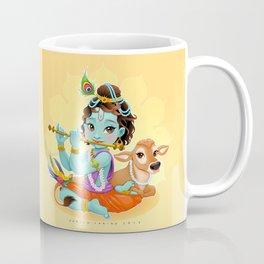 Baby Krishna with sacred cow Coffee Mug