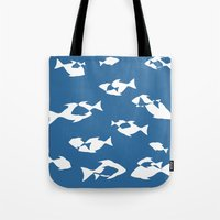 nemo Tote Bags featuring Finding Nemo by Citron Vert
