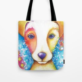 Dog Painting Jack Russell Terrier Vincent Abstract jrt Original Tote Bag