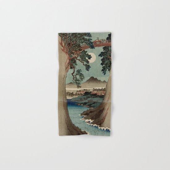 Saruhashi Bridge in Kai Province Japan Hand & Bath Towel