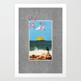 Beachfront, Part 2 Art Print
