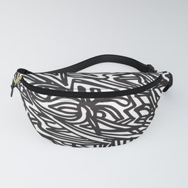 DP RAM abstract line art by melisssne Fanny Pack