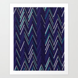 Abstract Chevron Art Print