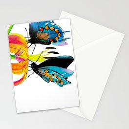 Butterflies & Lily Stationery Cards