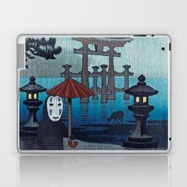 No face Kaonashi vintage japanese mashup Laptop & iPad Skin