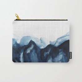 Abstract Indigo Mountains Carry-All Pouch