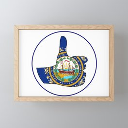 Thumbs Up New Hampshire Framed Mini Art Print