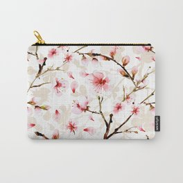 Watercolor cherry blossom pattern Carry-All Pouch