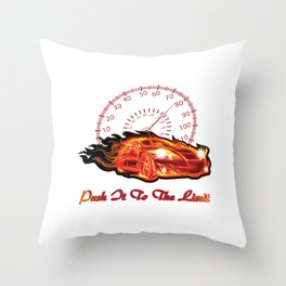 Push it to the limit Throw Pillow