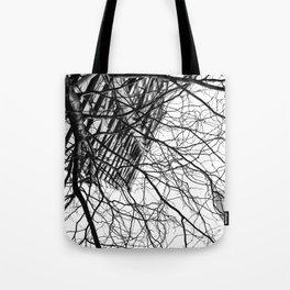 Tree Business Nature Merge BW Tote Bag