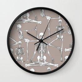 Skeleton Yoga Wall Clock