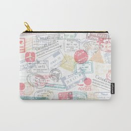 Passport Stamps Carry-All Pouch