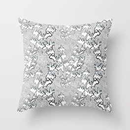 Flying over the mountains Throw Pillow