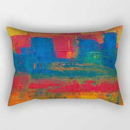 Reggae Rainbow Paint (Color) Rectangular Pillow