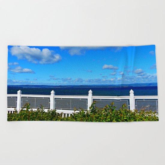 Shoreline Fence Beach Towel