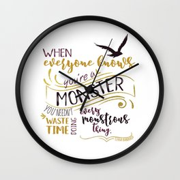 Every Monstrous Thing Wall Clock