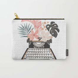 Floral Typewriter Carry-All Pouch