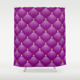 purple leather pattern Shower Curtain
