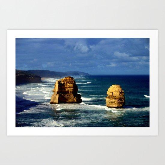 Limestone Rock Stacks & Headlands Art Print