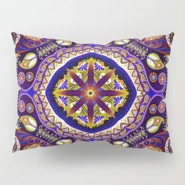 Boho Kaleidoscope Floral Pattern Var. 9 Pillow Sham