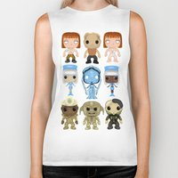 fifth element Biker Tanks featuring The Fifth Element Customs by SpaceWaffle