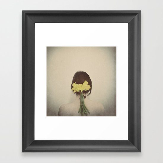 Flowers in her Hair Framed Art Print