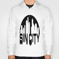 sin city Hoodies featuring SIN CITY  by Robleedesigns