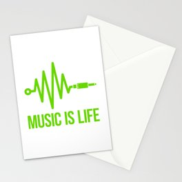 Music is life Stationery Cards