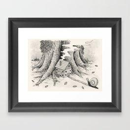 'A Visitor' (Grey) Framed Art Print