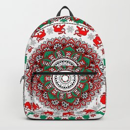 Mandala Christmas Sloth Backpack