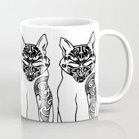 maori Mugs featuring Maori Kitty by Sofy Rahman