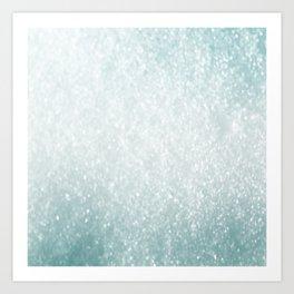 Aqua Storm Art Print