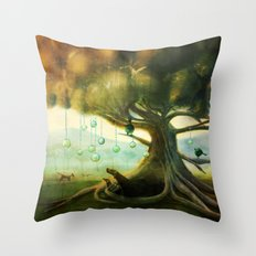 Under the Tree Throw Pillow