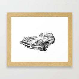 Jaguar E Type Framed Art Print