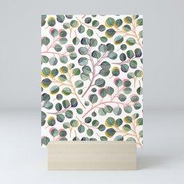 Simple Silver Dollar Eucalyptus Leaves Mini Art Print