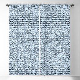 Ancient Arabic on Light Blue Blackout Curtain