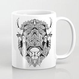 BISON head. psychedelic / zentangle style Coffee Mug