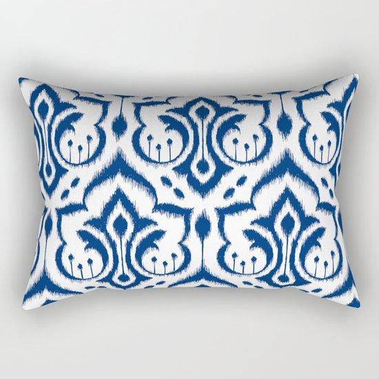 Ikat Damask Navy Rectangular Pillow