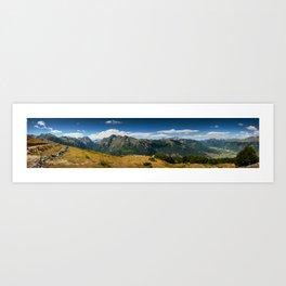 Climbing Vrh Bora Art Print